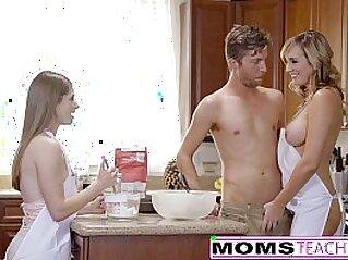 MomsTeachSex Horny Mom Tricks Teen Into Hot Threeway